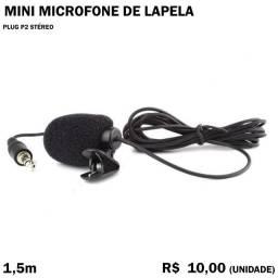 Microfone de Lapela - NÃO Funciona em Celular