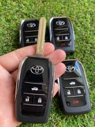 Chave canivete Toyota Corolla Hilux Etios SW4 RAV4 -