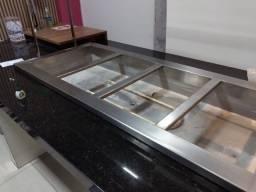 Título do anúncio: Mesa quente modelo sobre por e mesa fria modelo sobre por