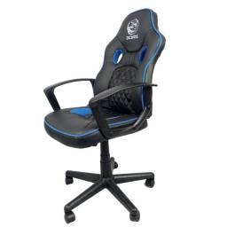 Cadeira Gamer Mad Racer STI Master - Pcyes | Preta e Azul | Lacrada com garantia