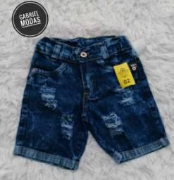 Bermuda jeans infantil para o seu filho, com preço imperdível!