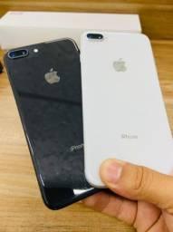Título do anúncio: iPhone 8 Plus 64gb black ou silver - parcelo em até 18x - aceito seu usado
