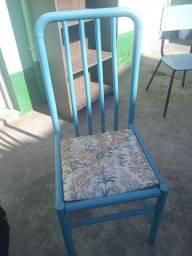 Cadeira Azul almofadada