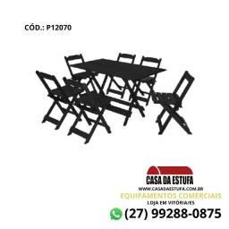 Título do anúncio: Conjunto Bar 120 x 70 - Mesa e 4 Cadeiras da Maplan - Cor Preta