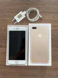 Título do anúncio: Iphone 7 Plus 128gb Gold Com Caixa e Carregador Original