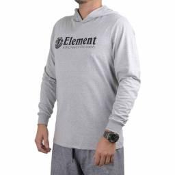 Camiseta Element Manga Longa Blazin Cinza Mesclaa