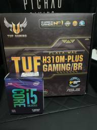 Kit upgrade Intel i5 9600KF + Placa mãe H310M Plus