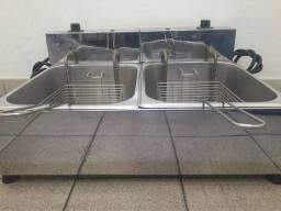 Título do anúncio: Fritadeira Elétrica Industrial Dupla 14 litros Nova