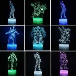 Homem de ferro figura 3d led night light os vingadores- com controle muda cor