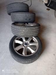 Rodas Vulcano 18 com pneus