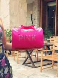 Mini Bolsa Feminina de Mão Pink Fitness Treino Academia