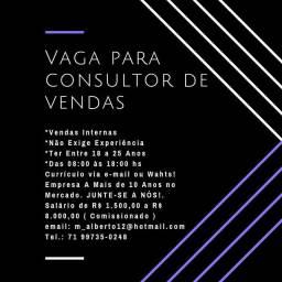 VAGAS PARA VENDEDOR(A)!!!