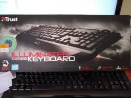 Título do anúncio: Teclado Gamer GXT280 Trust Retroiluminado Macro Novo Original lacrado