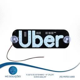 Placa Luminosa Uber com ventosa