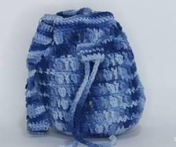 Bolsa De Croche Juvenil Azul