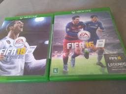 Jogos mídia física  Xbox one FIFA 16 e 18