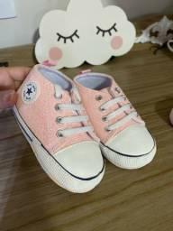 Título do anúncio: Tênis all star rosa bebe TAM 19