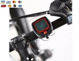Velocímetro / Ciclo Computador Bike Com Fio À Prova D'água