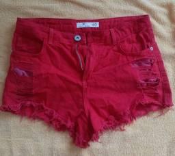 Título do anúncio: Short jeans vermelho