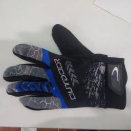 Luva Vermelha Azul para Motoqueiro Motocross Ciclista Bicicleta Dedo inteiro Toda mão