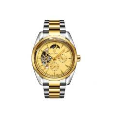 Relógio Tevise 214 Automático Mecânico Inox Prata/dourado