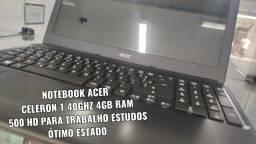 Título do anúncio: Notebook Acer 4gb ram aceito cartão e troco LEIA ANUNCIO