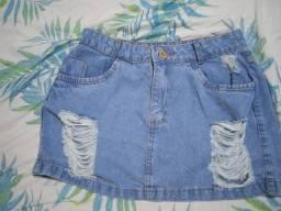 Saia jeans clara nova