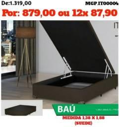 Base Box Bau- Bau Box- Cama Box Casal -Promoção em MS