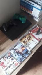 Ps3 com 4 jogos originais