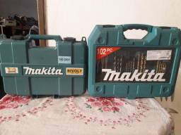 Kit máquina furadeira parafusadeira com brocas e parafusos R$ 700,00