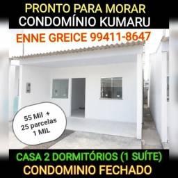 Condomínio Kumaru - casa 2 dormitórios, sendo 1 suite / Próximo a Torquato Tapajós