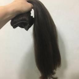 Cabelo humano 2 faixas mega hair