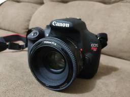 Câmera Canon T5 + Lente 50 MMM + Lente do Kit