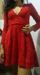 Vestido vermelho loja PINK