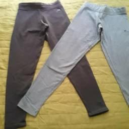 02 calças P para atividades físicas