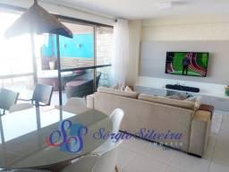 Cobertura duplex mobiliada no Mediterranée Residence no Porto das Dunas com 3 suítes