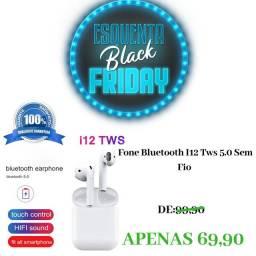 Fone bluetooth I12 Tws 5.0 sem fio