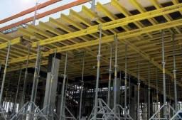 Locação de cimbramento - laje protendida - escoras/vigas/aprumadores/torres