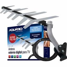 Título do anúncio: Antena Aquário Completa com Cabo de 10m e Suporte