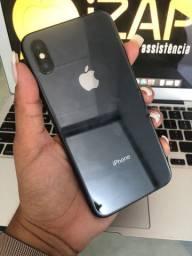 iPhone X 256GB preto ( somos loja)