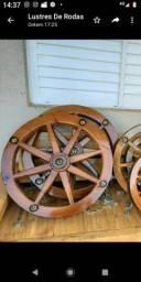 Lustres roda de carroça