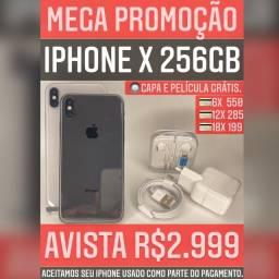 iPhone X 256gb, aceitamos seu iPhone usado como parte do pagamento.