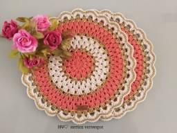 Sousplat de Crochê kit com 2 peças