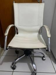 Cadeira de computador - couro - não sobe a lavanca