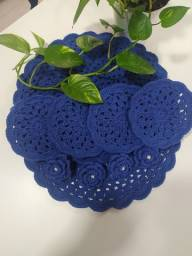Pronta entrega: Azul Sousplast em crochêeee