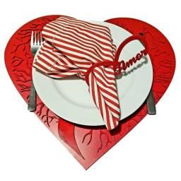 Jogo Americano Dia dos Namorados - Mesa Posta