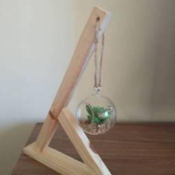 Decoração, suporte para terrário suspenso de vidro