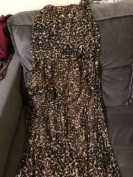 Vestido longo onça