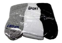 Meias Masculina Sport Kit C/12 Pares Barata