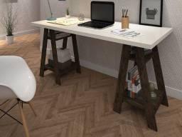 Escrivaninha com 4 prateleiras design moderno